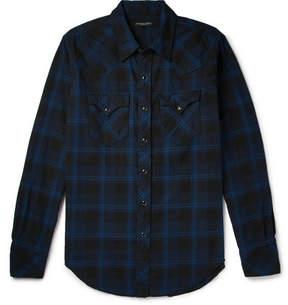 Engineered Garments Plaid Brushed-Cotton Shirt