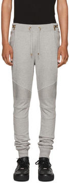 Balmain Grey Biker Zip Lounge Pants