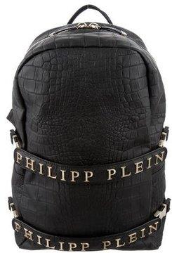 Philipp Plein Embossed Leather Backpack