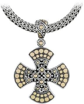 John Hardy Women's Dot Two-Tone Maltese Cross Pendant