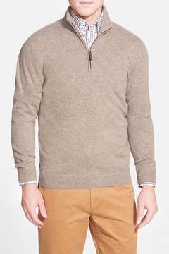 John W. Nordstrom Quarter Zip Cashmere Sweater (Regular & Tall)
