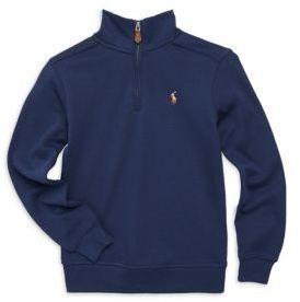Ralph Lauren Little Boy's & Boy's Half Zip Cotton Pullover
