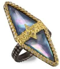 Armenta Old World 18K Gold Blue Sapphire Triangle Ring