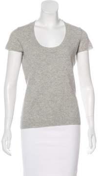 Barneys New York Barney's New York Short Sleeve Cashmere Top