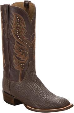 Lucchese Men's Sharkskin Leather Horseman Style Western Boot
