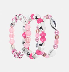 Avenue Pink Floral Stretch Bracelet Set