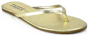 TKEES Highlighters - Metallic Leather Thong Sandal
