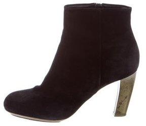 Dries Van Noten Suede Round-Toe Ankle Boots