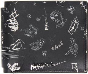 Lanvin Black Landscape Wallet