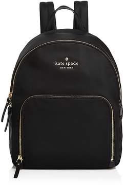 Kate Spade Watson Lane Hartley Nylon Backpack - BLACK/GOLD - STYLE