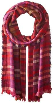 Echo Bright Stripes Wrap Scarf Scarves
