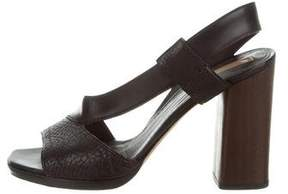 Reed Krakoff Leather Slingback Sandals