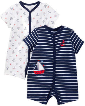 Little Me Nautical Rompers - 2-Piece Set (Baby Boys)