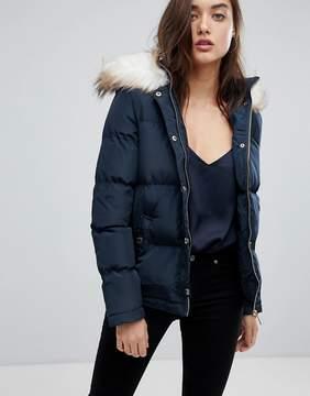 Lipsy Faux Fur Puffer Jacket