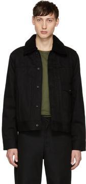 Rag & Bone Black Denim Bartack Jacket