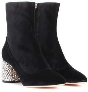 Rochas Velvet ankle boots