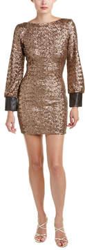 Dress the Population Blake Leather-Trim Sheath Dress