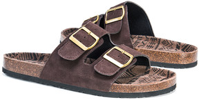 Muk Luks Brown Parker Duo Strap Suede Sandal - Men