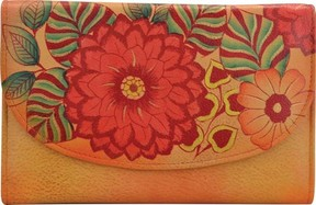 Anuschka Anna By ANNA by Hand Painted Leather Trifold Wallet 1816 (Women's)