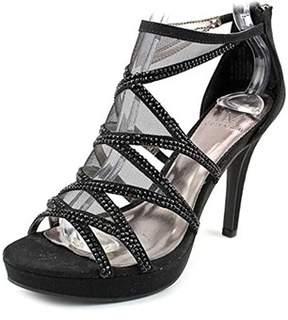 Material Girl Halley Women Open Toe Synthetic Black Platform Sandal.