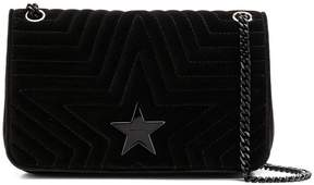 Stella McCartney quilted-effect velvet shoudler bag