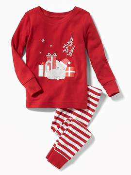 Old Navy Christmas Cat Sleep Set for Toddler & Baby