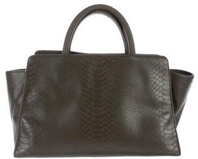 ZAC Zac Posen Embossed Leather Satchel