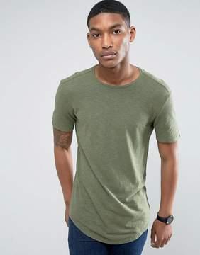 Benetton T-Shirt In Linen Mix