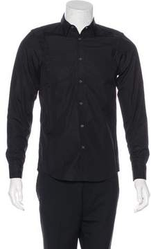 Public School Mesh-Trimmed Button-Up Shirt