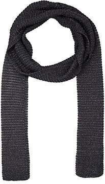 Barneys New York WOMEN'S METALLIC KNIT SKINNY SCARF