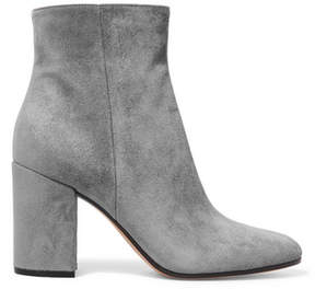 Gianvito Rossi 85 Suede Ankle Boots - Gray