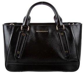 Burberry Patent Leather Satchel - BLACK - STYLE