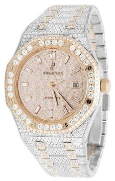 Audemars Piguet Royal Oak Two Tone Stainless Steel and Rose Gold 41mm Mens Watch