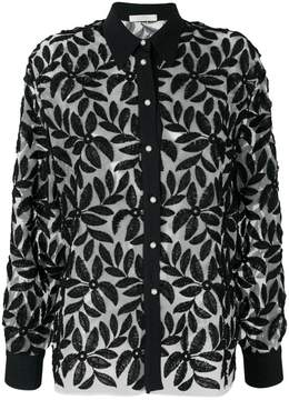 Mantu floral appliqué shirt