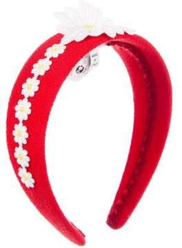 Dolce & Gabbana Woven Floral Headband