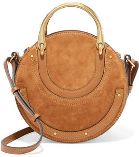 Chloé Pixie Suede And Textured-leather Shoulder Bag - Brown