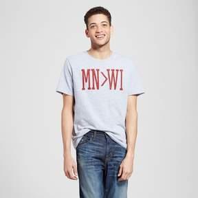 Awake Men's Minneapolis MN Greater Than WI T-Shirt - Heather Gray