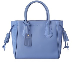 Longchamp Penelope Fantaisie Small Leather & Suede Tote. - BLUE MULTI - STYLE