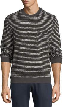 ATM Anthony Thomas Melillo Broken-Stripe Sweatshirt