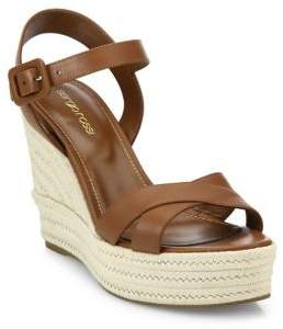 Sergio Rossi Maui Leather Wedge Sandals