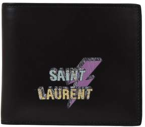Saint Laurent Eclair Wallet Black