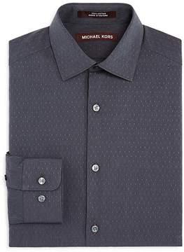 Michael Kors Boys' Tiny-Diamond Print Dress Shirt - Big Kid