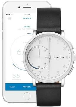 Skagen Men's Hagen Hybrid Smart Leather Strap Watch, 42mm