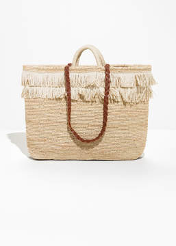 And other stories Woven Straw Bag