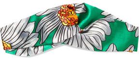 Gucci - Twisted Printed Silk-satin Headband - Green