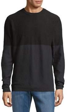 Selected Colorblock Crewneck Sweater