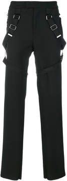 Les Hommes straped trousers