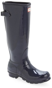 Hunter Women's Adjustable Back Gloss Rain Boot