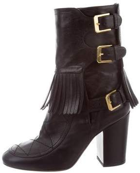 Laurence Dacade Quilted Fringe Ankle Boots