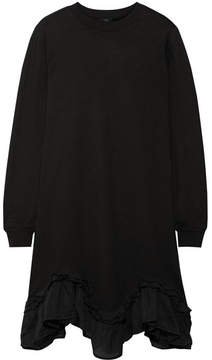 Clu Silk-trimmed Cotton-jersey Dress - Black